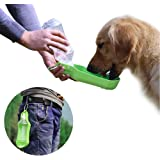 PETOU Portable Pet Travel Water Dispenser –Dog Water Bottle 17oz Outdoor