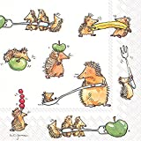 Celebrate the Home Silly 3-Ply Paper Luncheon Napkins, Funny Hedgehogs, 20-Count