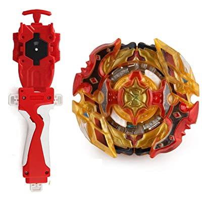Battling Toys Burst Booster CHO-Z SPRIGGAN.OW.ZT B-128 Starter with Battling String Launcher Burst Bey Launcher LR (Left & Right Turning)+String Launcher Grip Red