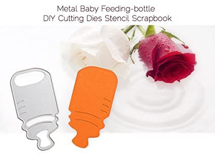 amazon com 3pcs metal baby feeding bottle cutting die handmade