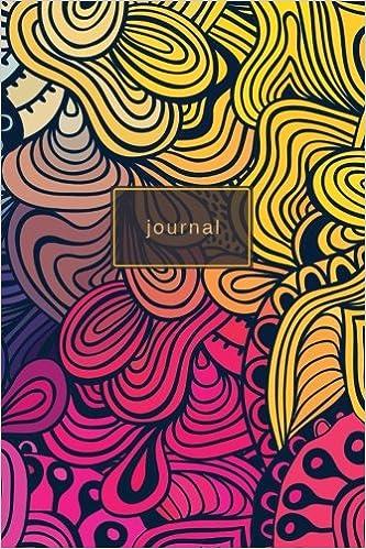 Amazon Com Journal Rainbow Multicolor Swirl Designer Notebook 120