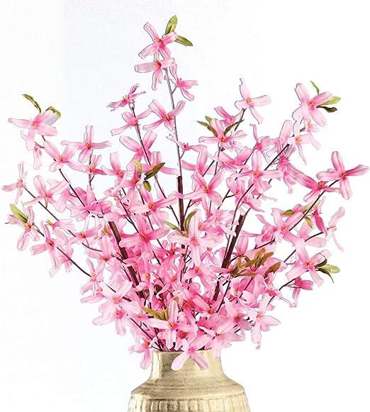 Amazon Com Springtime Artificial Forsythia Bushes Set Of 3