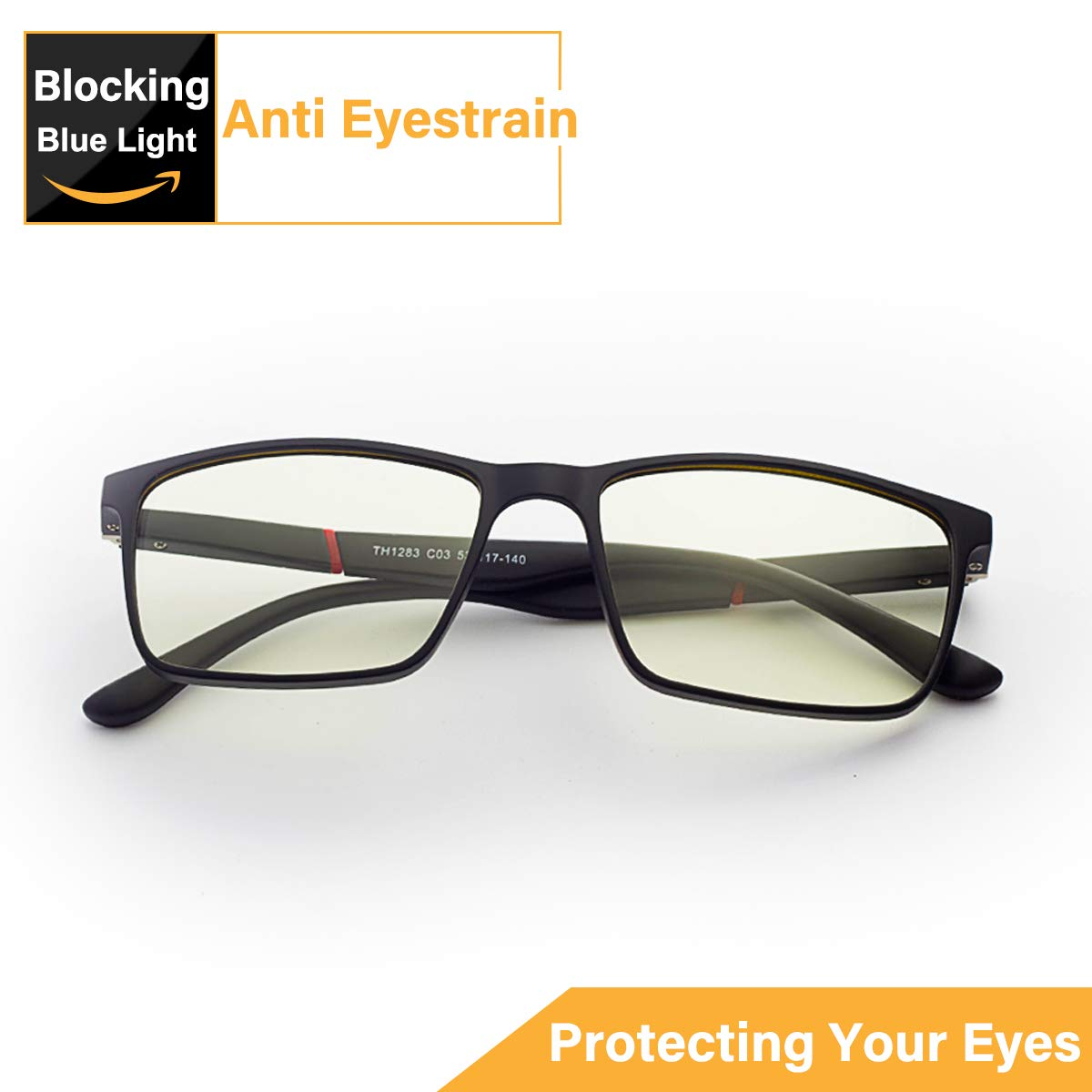 Blue Light Blocking Glasses,Computer Glasses,JACNITAD Anti Glare, Relieve Eyes Fatigue, Blocking Headaches, Premium Gamer & Computer & Reading Eye-wear, Anti Blue Light Lenses for Men & Women
