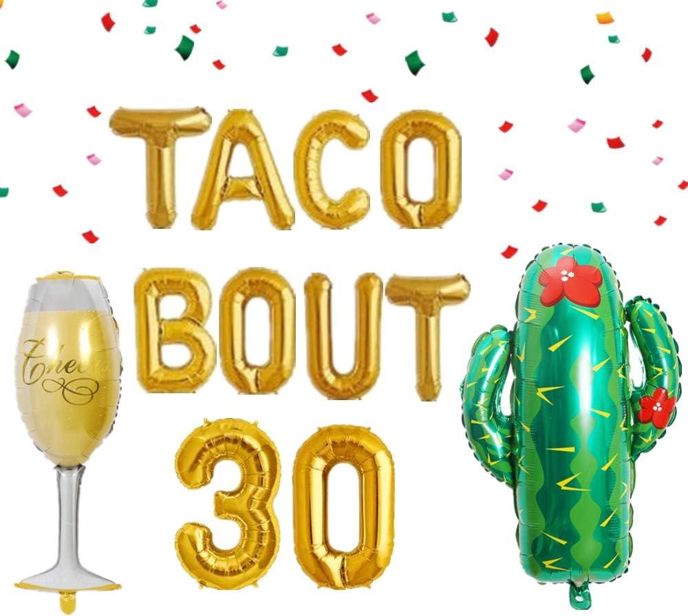 LaVenty Taco Bout 30 Balloons Nacho Average Thirty Balloon Fiesta 30th Birthday Decoration Taco Birthday Party Decoration Taco Party Decor