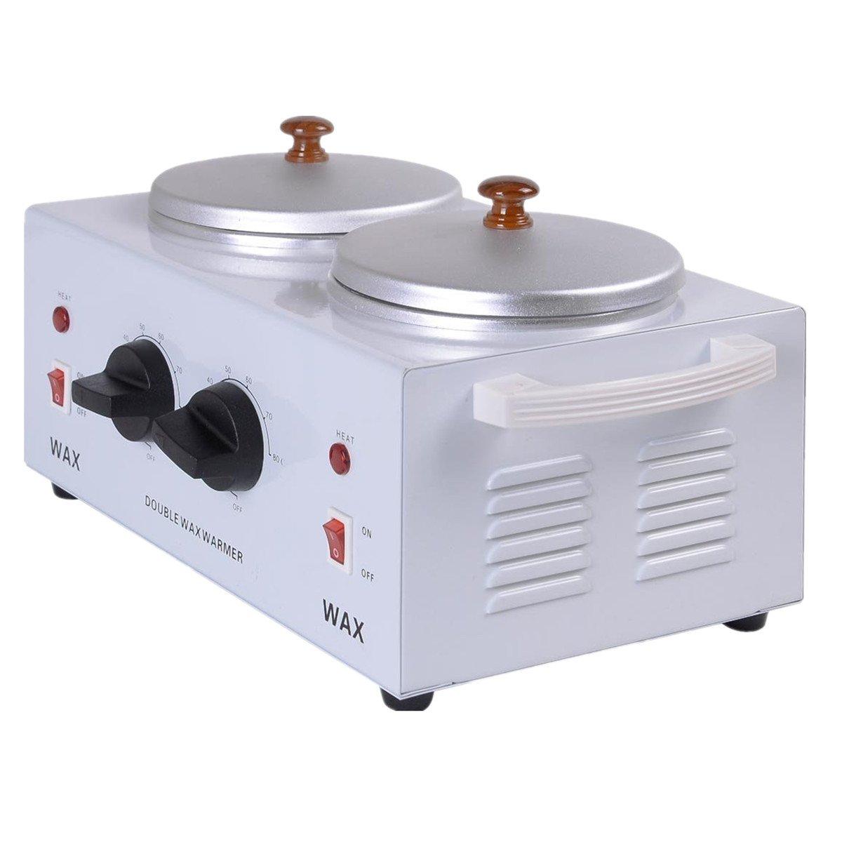 Super buy Electric Double Pot Wax Warmer Heater Professional Dual Pro Salon Hot Paraffin