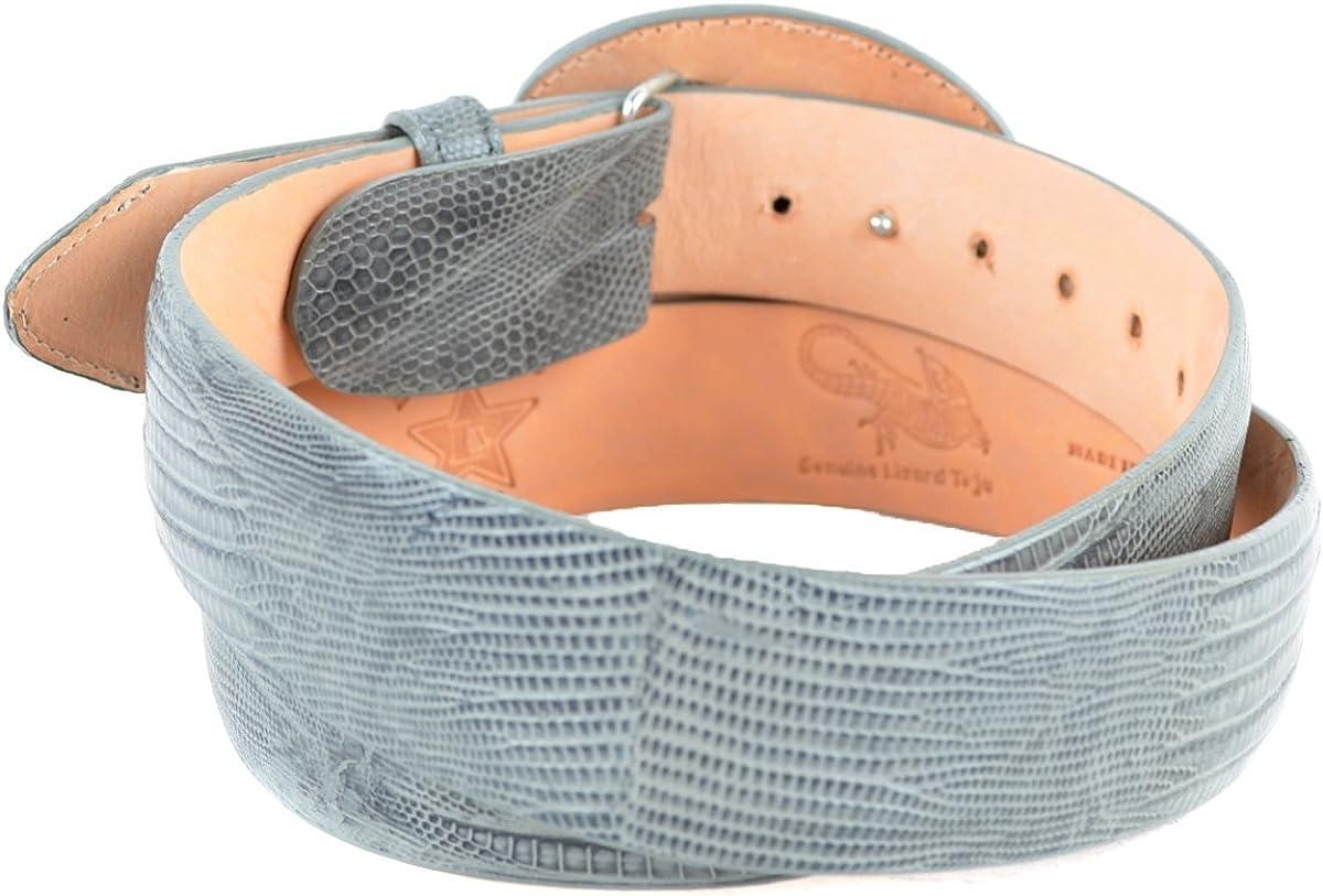 Original Grey Lizard Teju Skin Western Style Belt