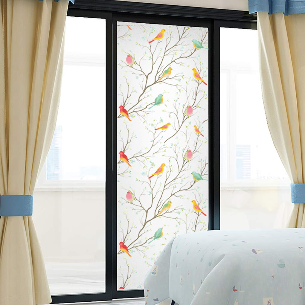 Coavas Privacy Window Film Non-Adhesive Frosted Bird Window Film Decorative Glass Film Static Cling Film Bird Window Stickers for GF-WF-90-2B Home Office 35In. by 78.7In. (90 x 200Cm) by Coavas (Image #9)
