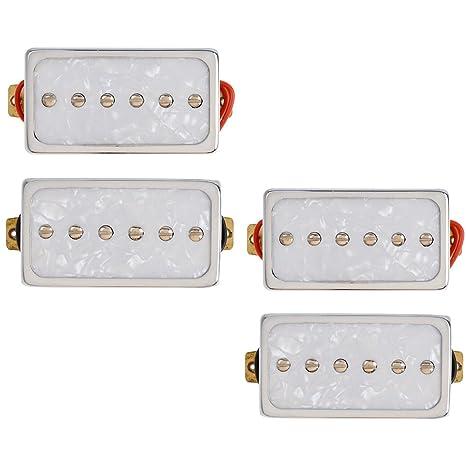 Kmise Single Coil Pickups Puente y cuello Set para Les Paul LP Guitarra eléctrica partes de