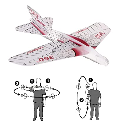 Amazon com: Cencity Interesting Foam Paper Airplane Maneuver