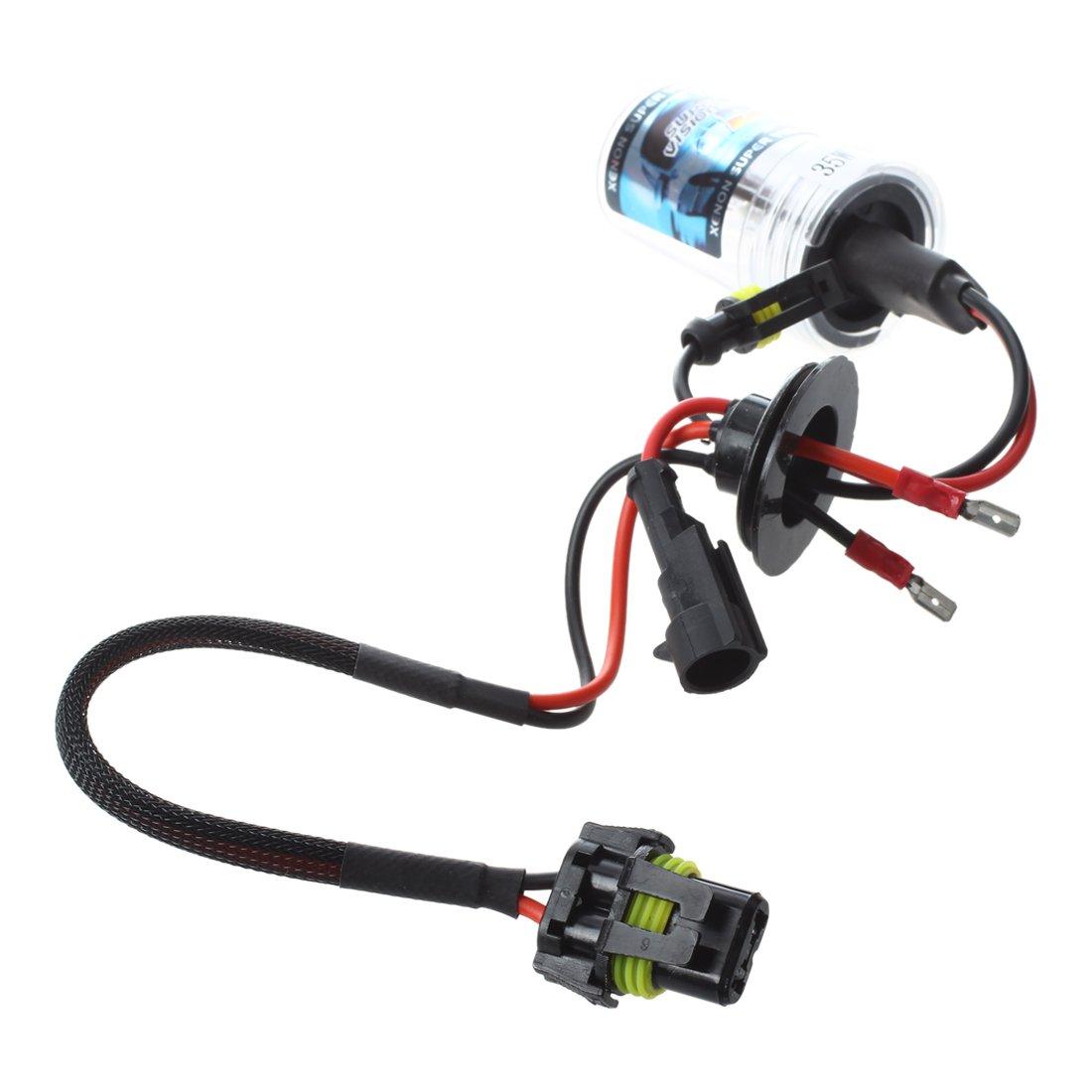 XZANTE 2X Xenon HID Kit Car Auto lampadina del faro della luce della lampadina Per H7 35W DC 12V H7-4300K