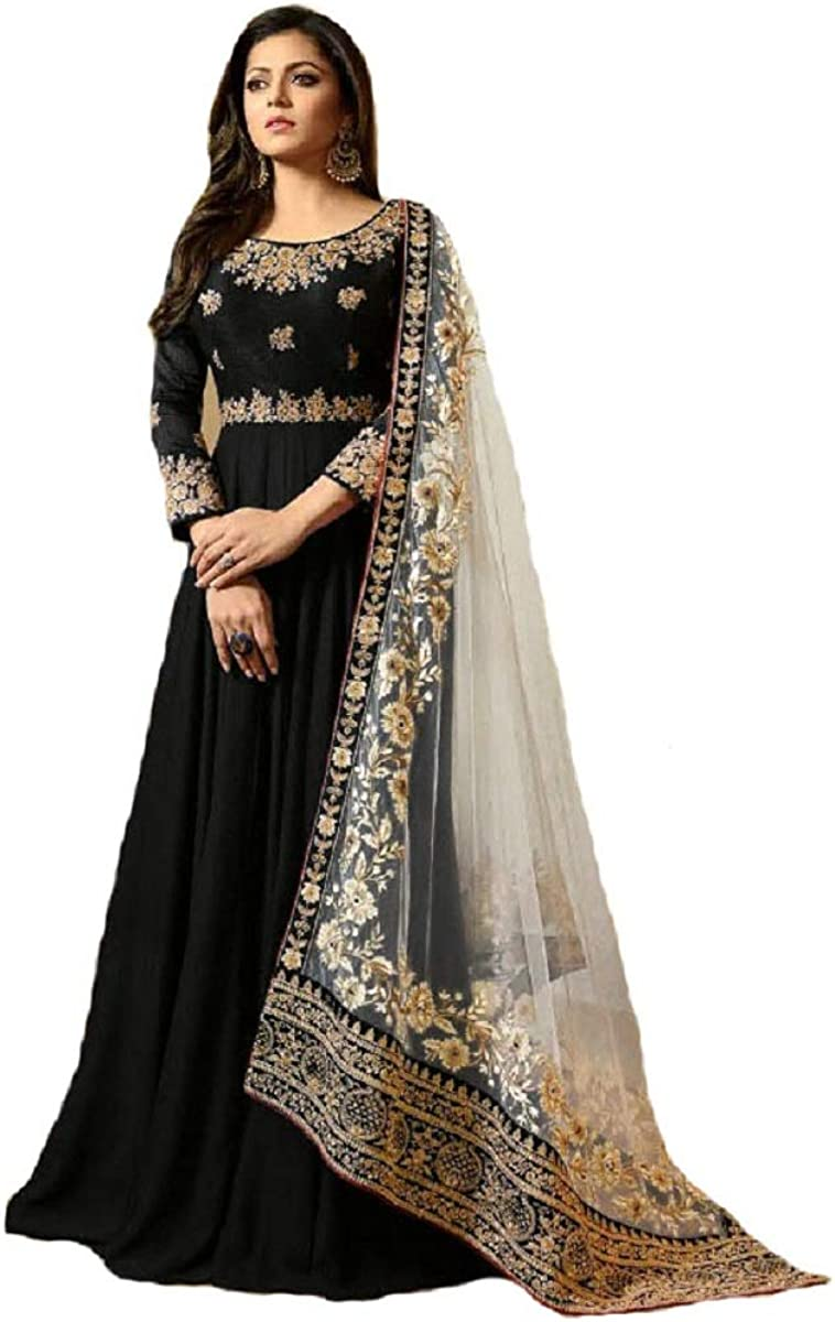 Eid special anarkali ethnic  traditional designer Indian embroidery work Dress
