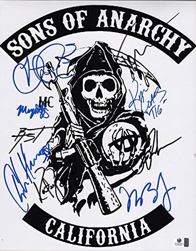 Sons Of Anarchy Signed Rp Cast Show Photo  2 Hunnam   8