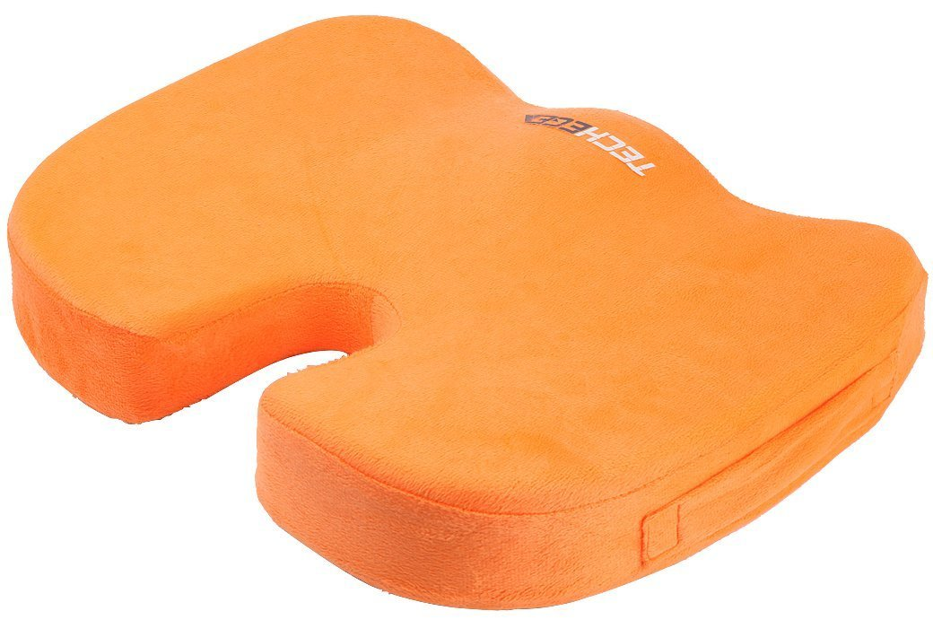 Seat Cushion Pain Relief for Coccyx, Tailbone, Hemorrhoids, Sciatica & Sacrum - Perfect Fit Wheelchair Cushion, Pad, Pillow - Orange
