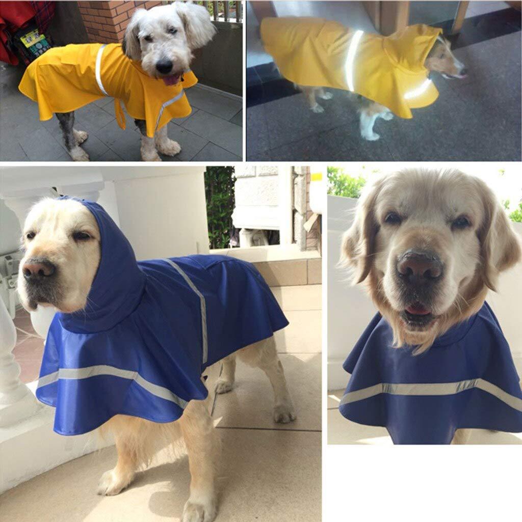 Dog Raincoats Dog Raincoat Puppy Rain Coat With Hood Waterproof Cloak All-Inclusive Dog Clothes Soft Breathable Pet Cat Dog Rainwear XS-2XL by MR.SAM