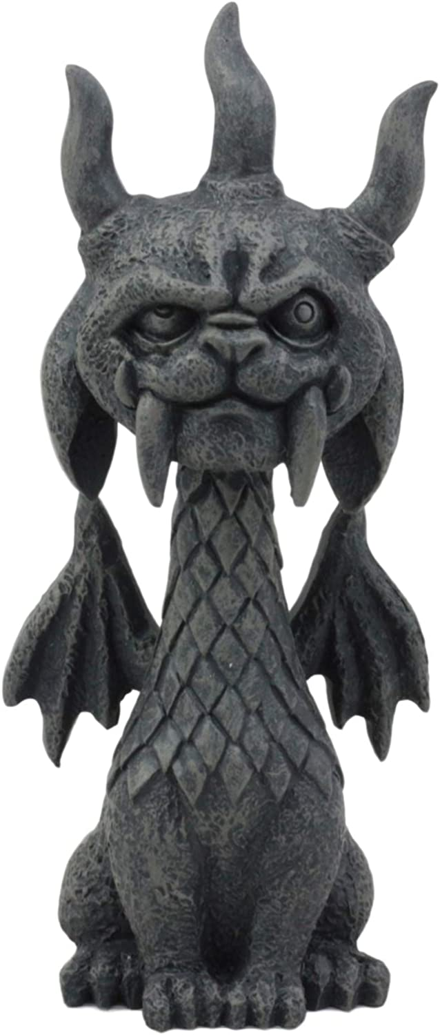 """Ebros Gothic Viking Dragon Gargoyle Gor Gor Figurine Small Mythical Fantasy Decor of Gargoyles Notre Dame Legendary Creatures Statue 5.5"""" Tall for Medieval Renaissance Castles and Cathedrals Fans"""
