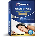 100 Medium Nasal Strips Anti-Snoring Aid for Fast Relief. Instantly Stops Snoring for Better Sleep, Less Congestion. Improved Air Flow, Gentle Spring Like Action. 55x16mm, Big 3 Month Supply