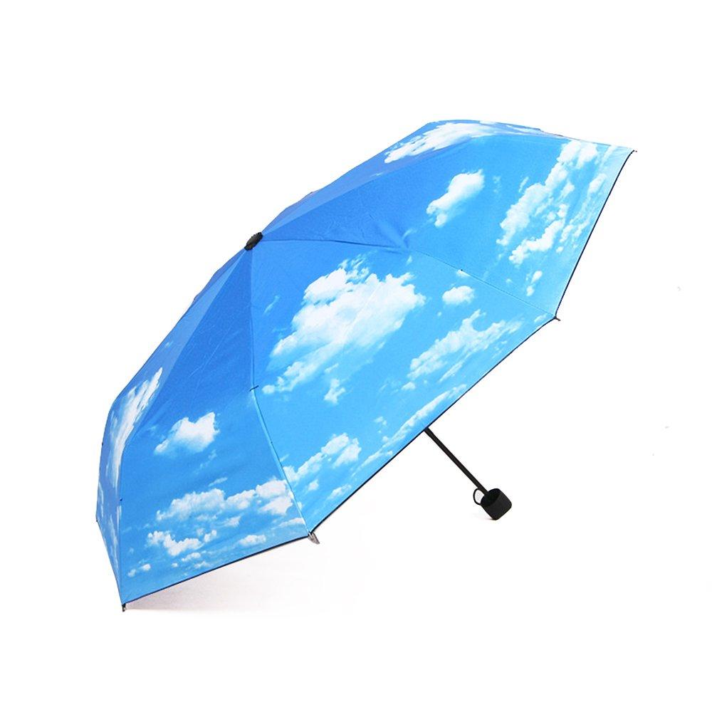 J.Market Manual Umbrella Folding Compact Travel Umbrella Waterproof and UV Protection Umbrella