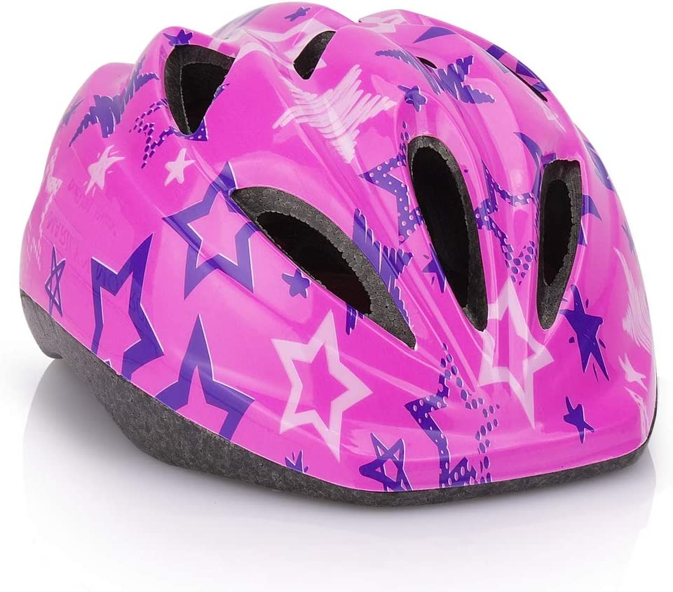 LX LERMX Kid Bicycle Helmets, Kids Bike Helmet Ages 5-14 Adjustable from Toddler to Youth Size, Durable Kids Bike Helmet with Fun Designs for Boys and Girls Safety and Comfort