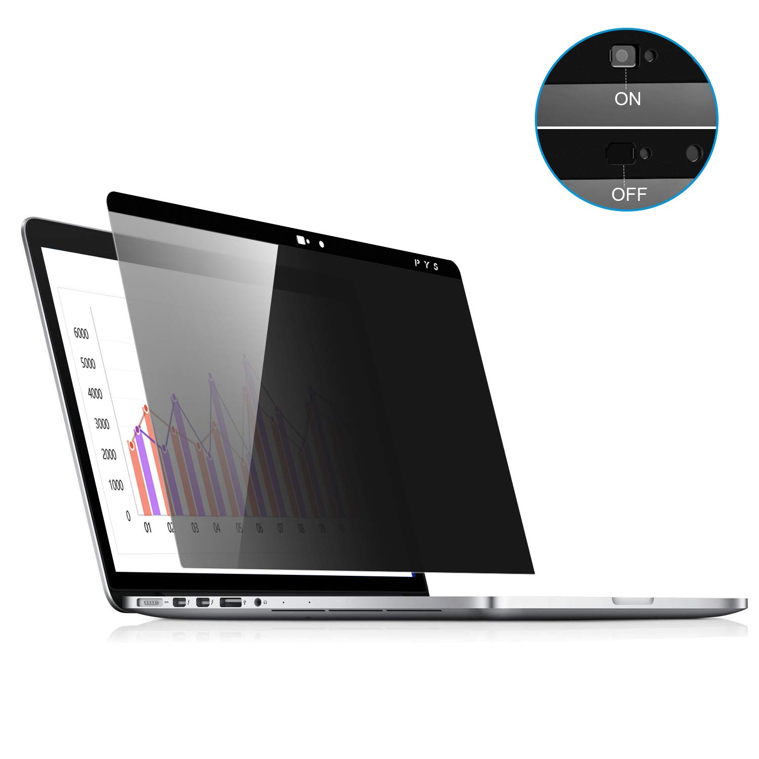 MacBook Pro 15 Magnetic Privacy Screen,Laptop Webcam Cover- Privacy Screen Protector Compatible MacBook pro 15.4 inch (Late 2016-2018 Including Touch Bar) Anti-Spy Filter fit Privacy for MacBook