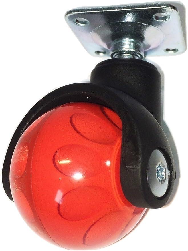 FreeWheeling Conjunto de 4 Ruedas esf/éricas giratoriasPlanet con Pin universal 11mm Amarillo 1117587 Cod
