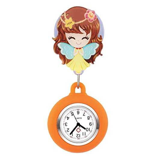 manifo Enfermera Reloj Pulso Reloj Nurse Watch Bata Reloj silicona dibujos animados niña Ángel Reloj de bolsillo Enfermera Naranja # 1: Amazon.es: Relojes
