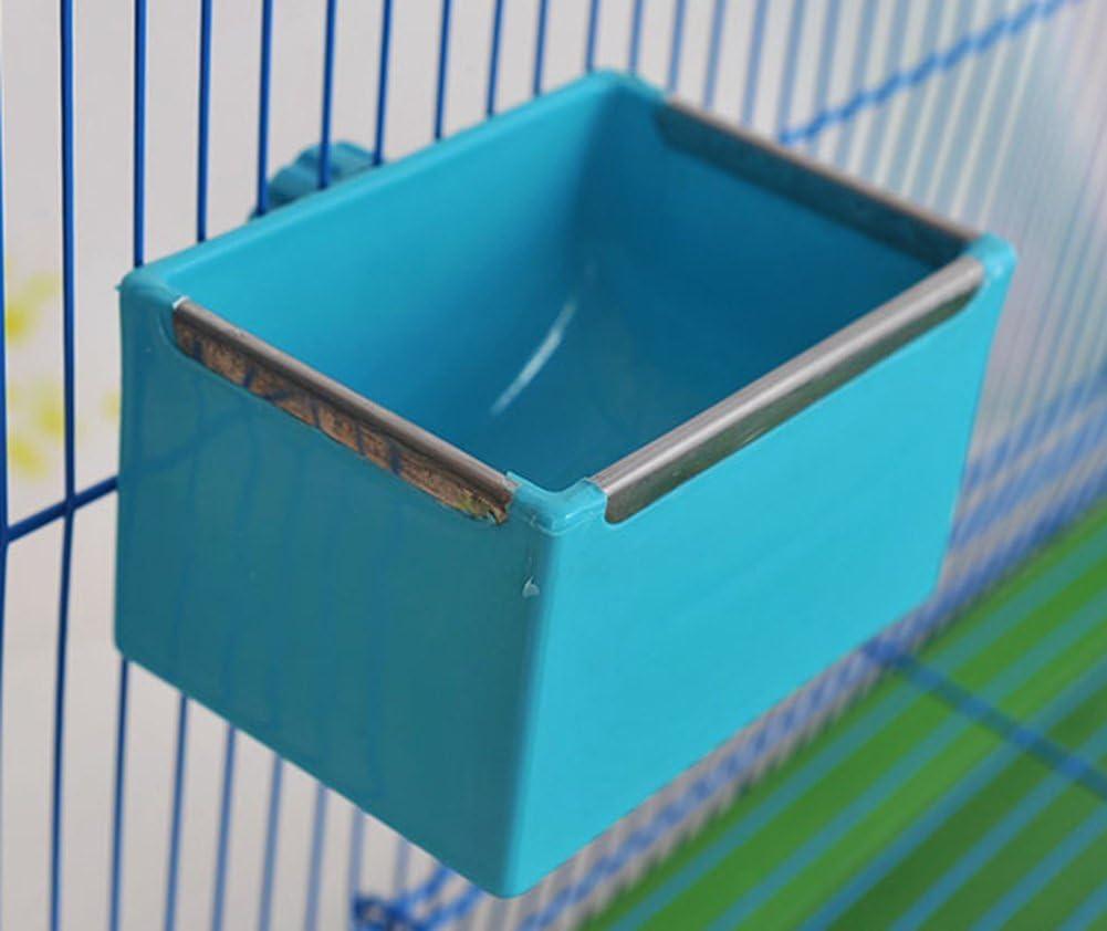 Bird Food Semilla alimentador de agua alimentación plato cuenco para Parrot periquito periquito cacatúas Conure Agapornis servilletas de palomas africano gris aves Chinchilla Guinea Pig Conejo jaula
