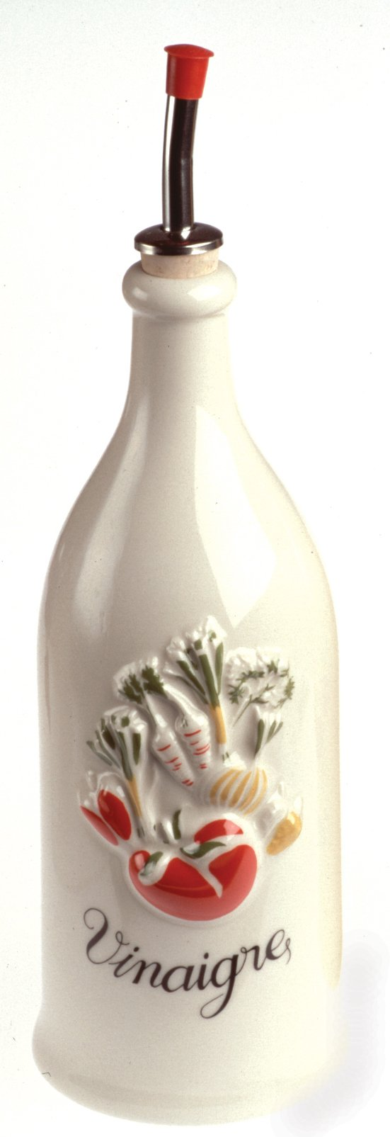 Revol 615766 P95 Vinegar Bottle, 9 x 2.5'', Creamy White by Revol
