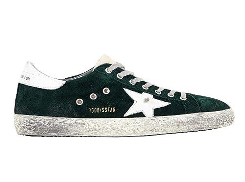 Golden Goose Scarpe Sneakers Uomo Vintage Superstar G32MS590.E78 Verde  Argento N. 39 EU d5bbb3edf42