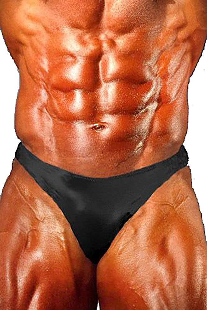 Musclealive Men Bodybuilding Contest Physique Competition Posing Trunk Gym Shorts Nylon and Spandex
