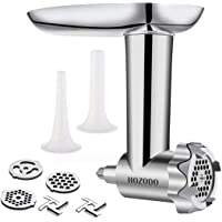 Food Meat Grinder Attachments Designed for KitchenAid Stand Mixers, Durable Metal Food Processor, Useful Mixer Accessory…