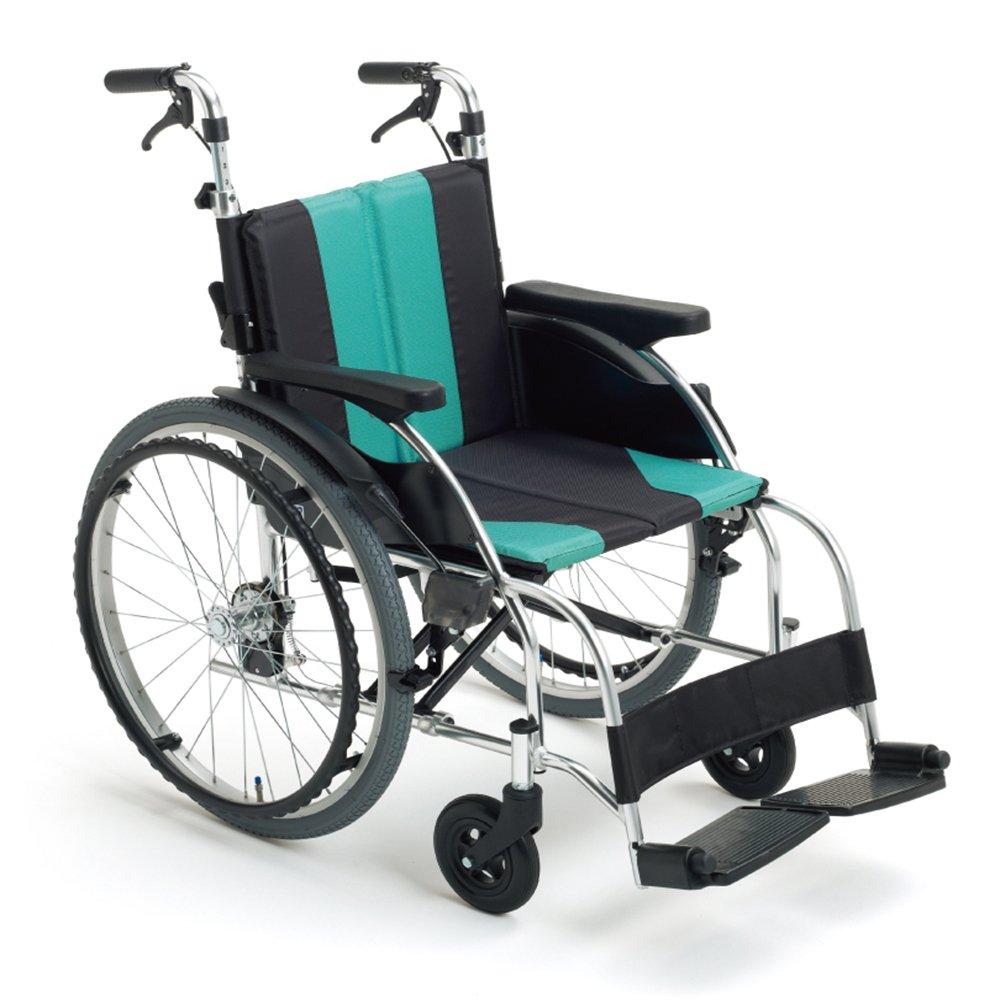 ミキ 押し手高調整機能付車いす 自走型 UR1 UR-1 エメラルド 40 B00BVQYOBI