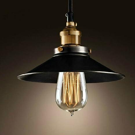 Nclon Industrial Vintage Retro Lámpara de techo,E27 Enchufe Creativo Simple Lámpara colgante Comedor Lámpara colgante Exclud de la bombilla-22CM