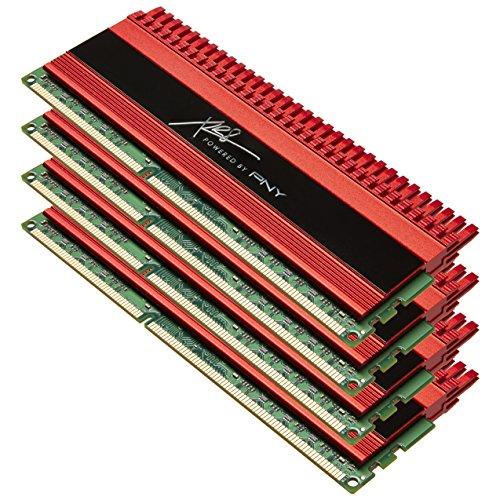 PNY XLR8 Memory 32 GB(4 x 8GB) DDR3 2133MHz (PC3 17000) 240-pin CAS CL 11 Desktop Memory Kit-MD32768K4D3-2133-X11