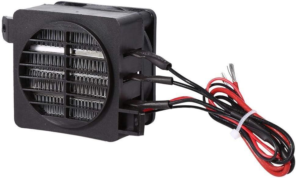 Fdit Calentador de Aire de Coche PTC Calentador de Fan para Coche Ahorro de Energía 100W 12V Calentadores de Elemento de Calefacción de Temperatura Constante