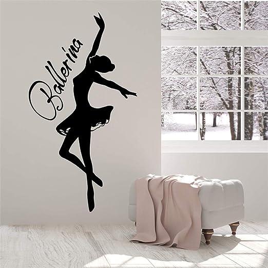 Bailarina Nombre personalizado Vinilo Tatuajes de pared Decoración ...
