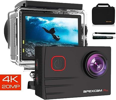 Apexcam Pro Cámara Deportiva 4K 20MP EIS WiFi Action Camera Cámara ...