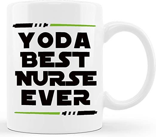 Amazon Com Yoda Best Nurse Funny Nurse Gifts Gift Ideas For Hospital Registered Nurse Practitioner Assistant Rn Nursing Student Nurses For Christmas Graduation Novelty Coffee Mug Tea Cup White Kitchen Dining