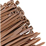 Pro Tie BR11SD100 11.8-Inch Brown Standard Duty Color Cable Tie, Brown Nylon, 100-Pack