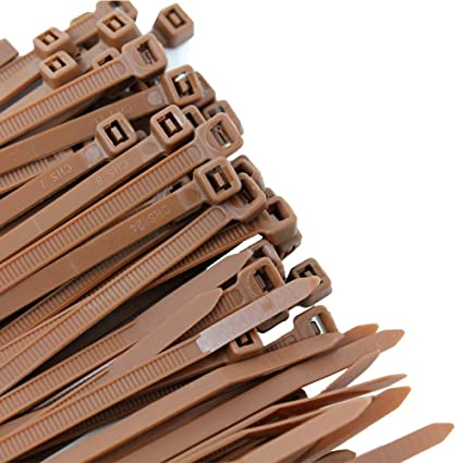 a2f12297ab7e Pro Tie BR11SD100 11.8-Inch Brown Standard Duty Color Cable Tie, Brown Nylon,  100-Pack - Brown Zip Ties - Amazon.com