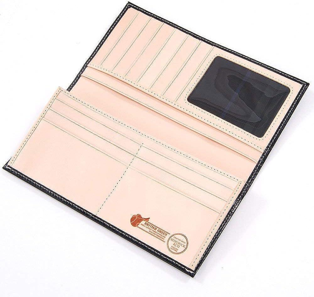 BRITISH GREEN ブライドルレザー長財布 の内装