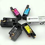 Caire(TM) Premium Compatible Dell E525W Toner Cartridge Set of 5 Packs(MYCK+K)