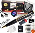 Premium Spy Pen 1080p Hidden Camera BUNDLE 16GB SD Card, Real HD Voice Video & Image + Upgraded Battery + 7 ink Fills Inc + USB SD Reader + USB Plug Executive Multifunction DVR Perfect Gift