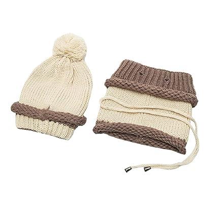 cee106b094a5 ACVIP - Ensemble bonnet, écharpe et gants - Fille - Beige - Taille unique   Amazon.fr  Vêtements et accessoires