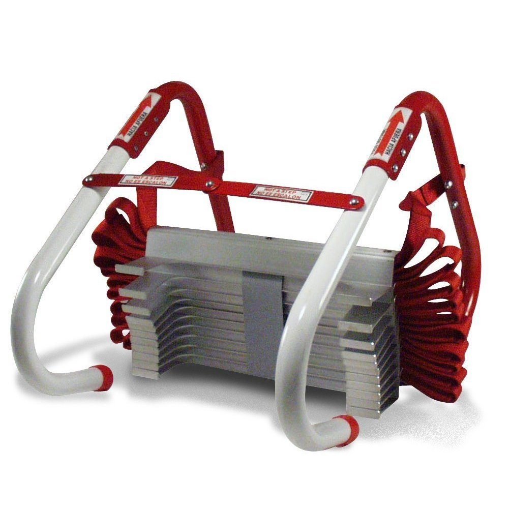 Kidde KL-2S Two-Story Fire Escape Ladder with Anti-Slip Rungs, 13-Foot with Mini Tool Box (fs)