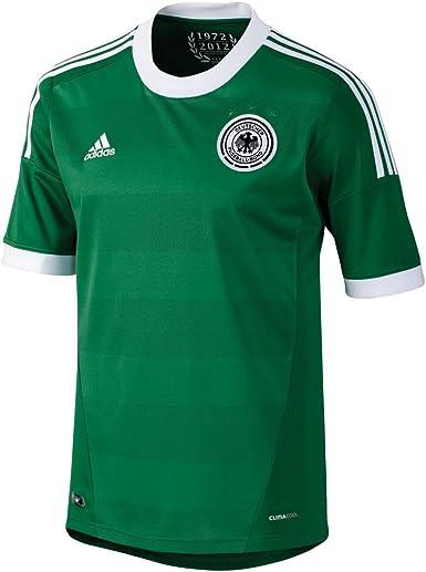 adidas - Camiseta de fútbol Sala Infantil, tamaño 164 UK, Color Verde/Blanco: Amazon.es: Ropa y accesorios