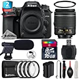 Holiday Saving Bundle for D7500 DSLR Camera + AF-P 18-55mm + 2yr Extended Warranty + 16GB Class 10 + + 1, + 2, + 4 & + 10 Macro Filter Kit + UV Filter + Cleaning Kit - International Version
