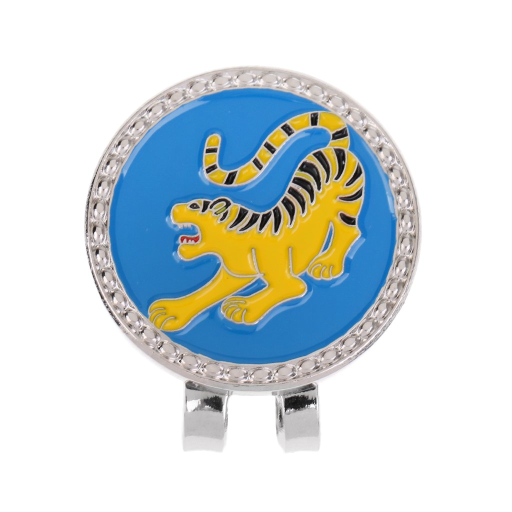 JiliオンラインChinese Zodiacパターン合金ゴルフボールマーカーwith磁気帽子クリップ – ゴルファーの美しい贈り物 – 12パターン  タイガー B074K22V7Y