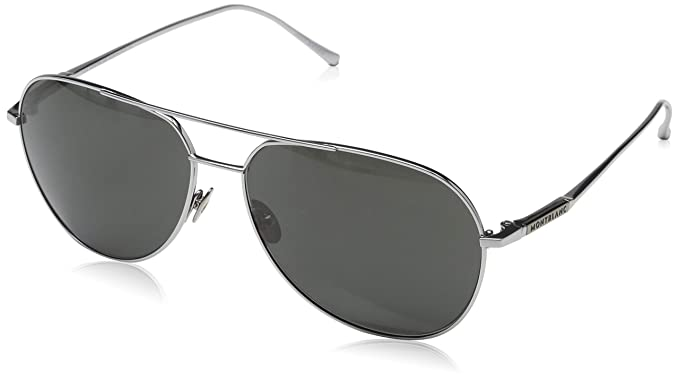 f555e09a1 Image Unavailable. Image not available for. Color: Montblanc Aviator  Sunglasses MB657S 16A Palladium ...