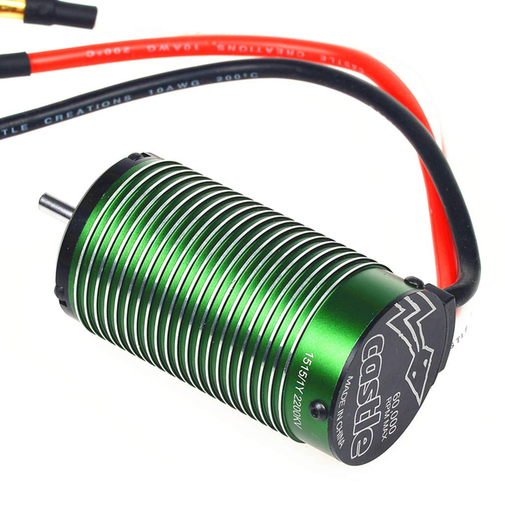 【201New】 Brushless Motor,2200kV Brushless Motor Traxxas E-Revo E-Maxx,Upgrade Power System for Monster Truck and 1/8 Scale Off Road Applications up to 6S (22.2V) (A) by cobcob