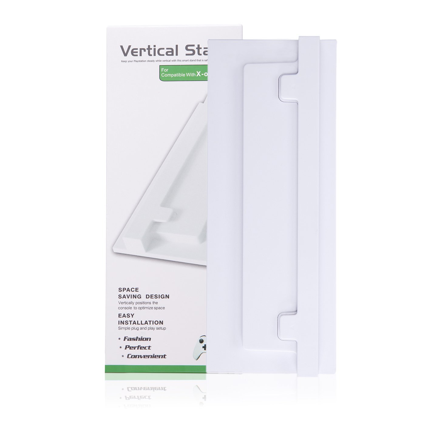 HDE Vertical Stand for Xbox One S Console Non Slip Upright Slim Cooling Base (White) by HDE